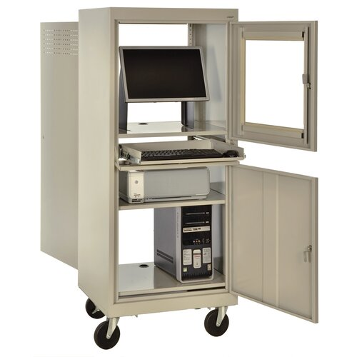 Sandusky Cabinets Mobile Computer Security Workstation