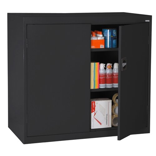 "Sandusky Cabinets Elite Series 46"" Large Capacity Counter Height Storage Cabinet"