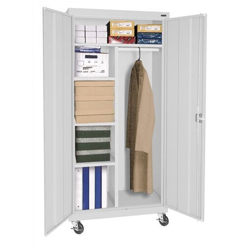 "Sandusky Cabinets Transport 36"" Mobile Combination Wardrobe Cabinet"