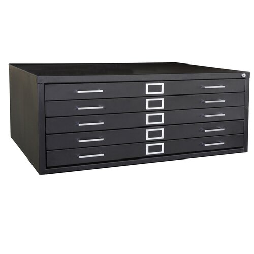 Sandusky Cabinets Flat Files 5 Drawer Filing Cabinet