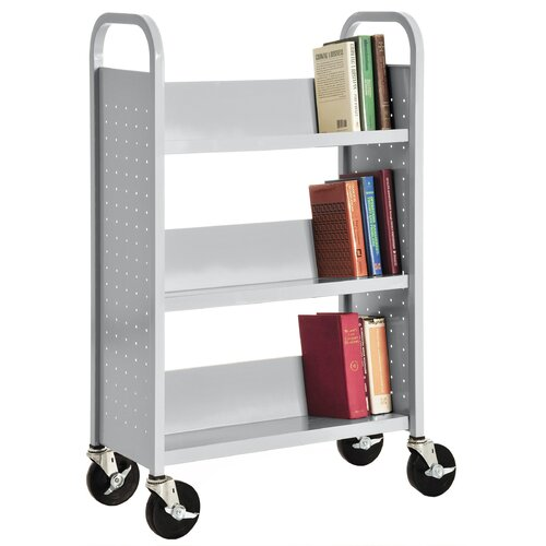 Sandusky Cabinets Single Sided Sloped Shelf Mobile Booktruck