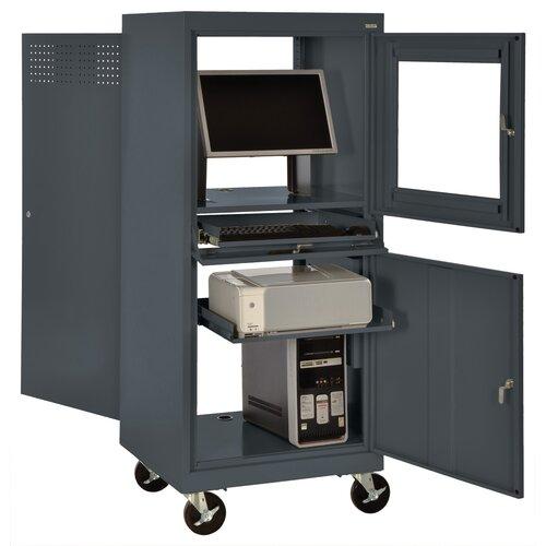 Sandusky Cabinets Mobile Computer Security Workstation