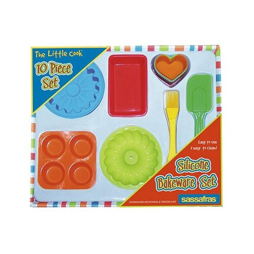 Sassafras 10 Piece The Little Cook Silicone Bakeware Set