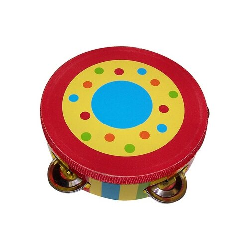 Sassafras Kid's Striped Tambourine
