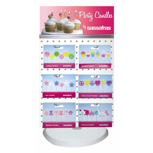 144 Party Candle Plus Spinner Display