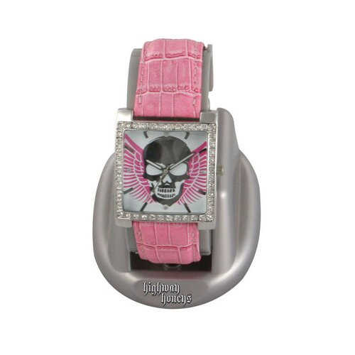 RAM Instrument Highway Honey Women's Watch with Skull and Wings Emboss