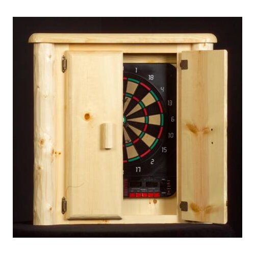 Northwoods Billiards Log Dart Board Cabinet