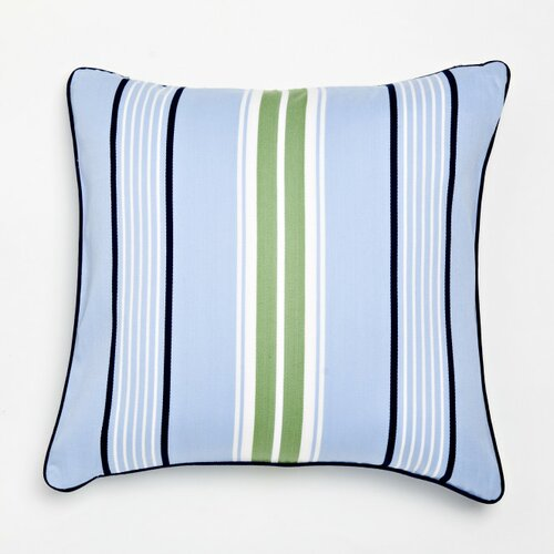 Whistle and Wink Stars and Stripes Preppy Stripe Decorative Pillow