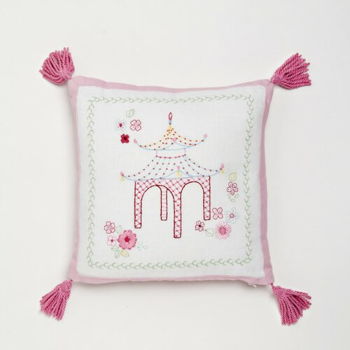 Pink Pagoda Decorative Pillow