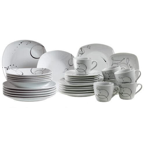 Domestic by Maser Chanson 30 Piece Dinner Set
