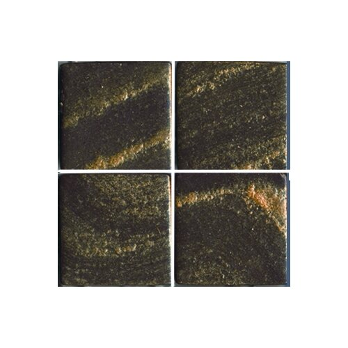 "Epoch Architectural Surfaces Metalz Bronze 1"" x 1"" Recycled Glass Mosaic in Bronze"