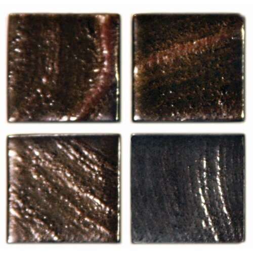 "Epoch Architectural Surfaces Metalz GB Blend 1"" x 1"" Recycled Glass Mosaic in Bronze Multi"