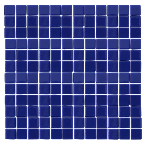 "Epoch Architectural Surfaces Monoz 1"" x 1"" Recycled Glass Mosaic in Blue"