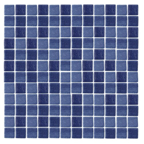 "Epoch Architectural Surfaces Spongez S-Dark Blue 1"" x 1"" Recycled Glass Mosaic in Blue"
