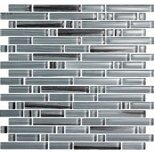Epoch Architectural Surfaces Brushstrokes Peltro Random Sized Mosaic in Gray Multi