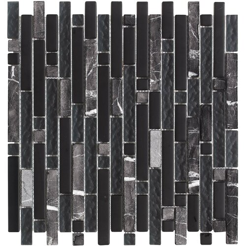 Epoch Architectural Surfaces Varietals Zinfandel Random Sized Mosaic Stone and Glass Blend in Multi