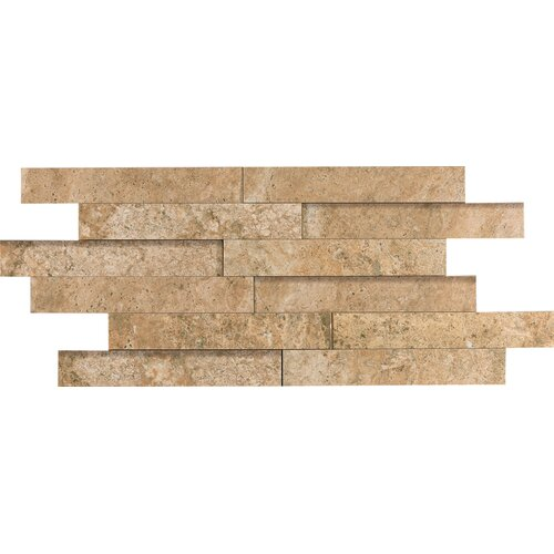 "Epoch Architectural Surfaces 12"" x 2"" Porcelain Listello in Noce Travertine"