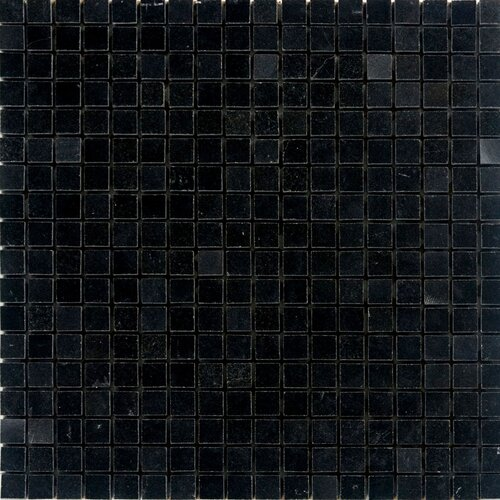 "Epoch Architectural Surfaces 5/8"" x 5/8"" Polished Granite Mosaic in Absolute Black"
