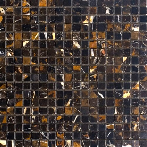 "Epoch Architectural Surfaces 5/8"" x 5/8"" Polished Marble Mosaic in Michaelangelo"
