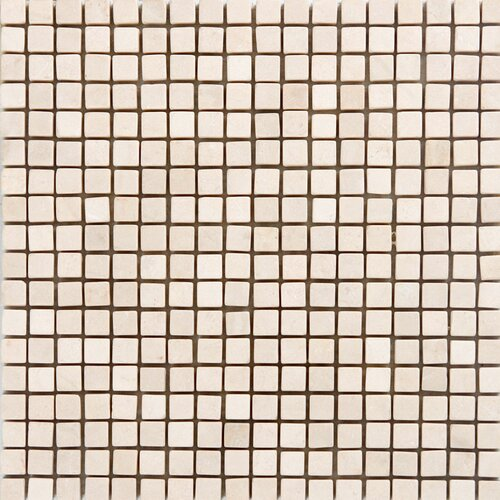 "Epoch Architectural Surfaces 5/8"" x 5/8"" Polished / Tumbled Marble Mosaic in Crema Marfil"
