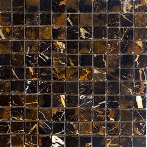 "Epoch Architectural Surfaces 1"" x 1"" Polished Marble Mosaic in Michaelangelo"
