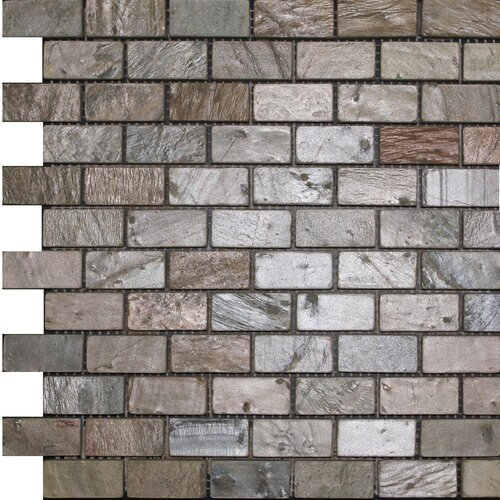 "Epoch Architectural Surfaces 2"" x 1"" Tumbled Slate Mosaic in Copper"