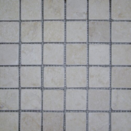 "Epoch Architectural Surfaces 2"" x 2"" Tumbled Limestone Mosaic in Sunrise"