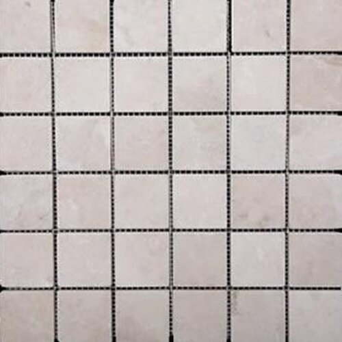 "Epoch Architectural Surfaces 1"" x 1"" Tumbled Travertine Mosaic in Ivory"