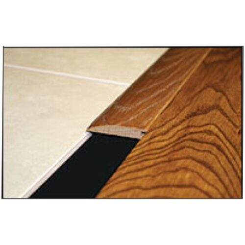 "Moldings Online 0.58"" x 2.25"" Solid Hardwood Bamboo Carbonized Strand Reducer Overlap in Unfinished"