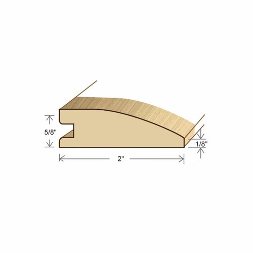 "Moldings Online 0.62"" x 2"" Solid Hardwood Ipe Reducer in Unfinished"