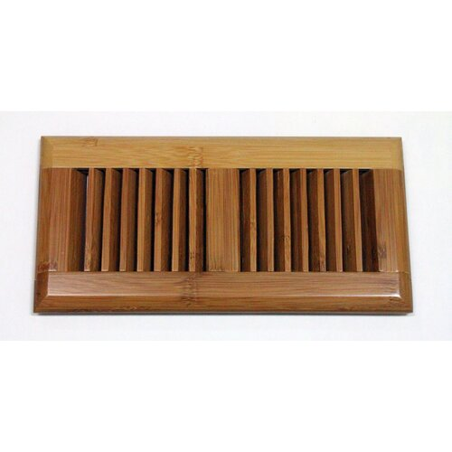 "Moldings Online 5-5/8"" x 13-1/2"" Horizontal Bamboo Surface Mount Wood Vent"