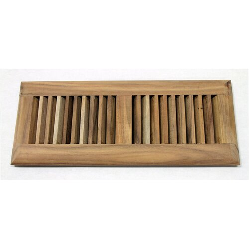 "Moldings Online 5-5/8"" x 13-1/2"" Acacia Surface Mount Wood Vent"