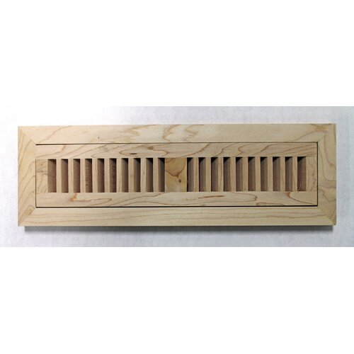 "Moldings Online 4-1/2"" x 12"" Maple Wood Flush Mount Vent"