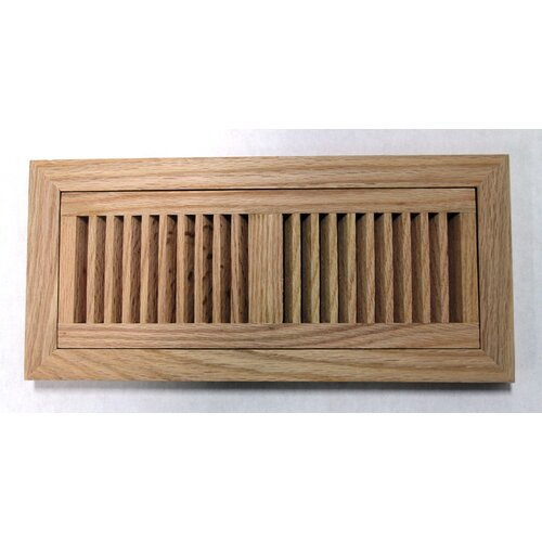 "Moldings Online 9"" x 14-3/4"" Red Oak Flush Mount Wood Vent"