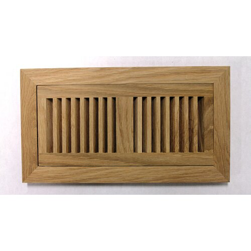 "Moldings Online 9"" x 16-3/4"" White Oak Flush Mount Wood Vent"