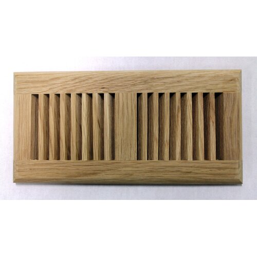 "Moldings Online 5-5/8"" x 13-1/2"" White Oak Surface Mount Wood Vent"