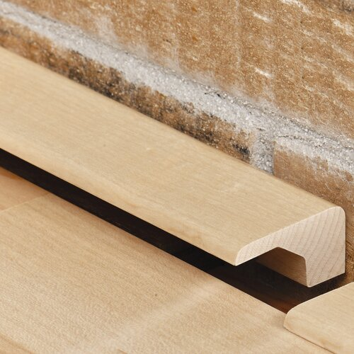"""Moldings Online 0.375"""" x 1.17"""" Solid Hardwood White Ash Square Nose in Unfinished"""