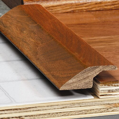 "Moldings Online 0.67"" x 2.38"" Solid Hardwood Walnut Overlap Reducer in Unfinished"