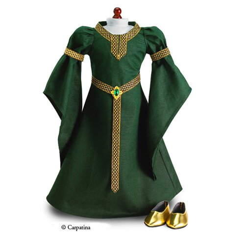 American Girl Dolls Celtic Princess Medieval Dress and Shoes