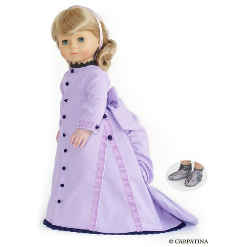 Carpatina American Girl Dolls Victorian Bustle Back Dress