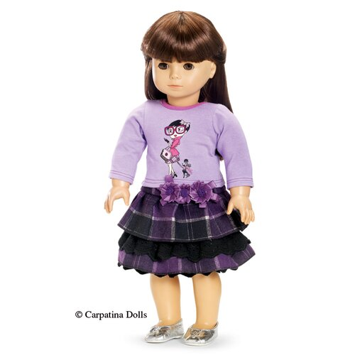 Carpatina American Girl Dolls Afternoon Stroll Skirt and Shirt Outfit