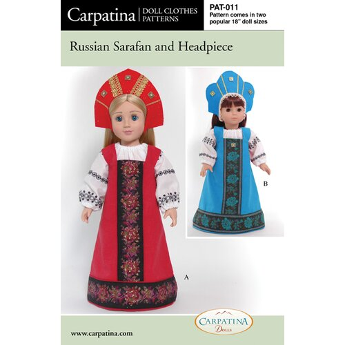 Clothes Pattern Doll Russian Costume