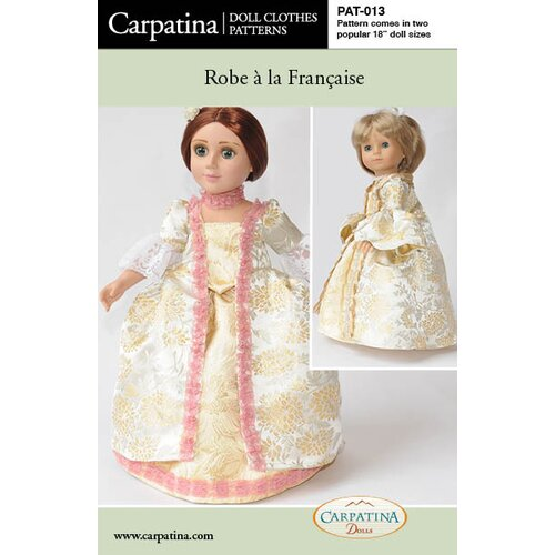 Carpatina Clothes Pattern Doll Robe a la Francais