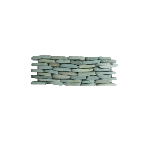 Solistone Standing Pebbles Random Sized Interlocking Mesh Tile in Cypress