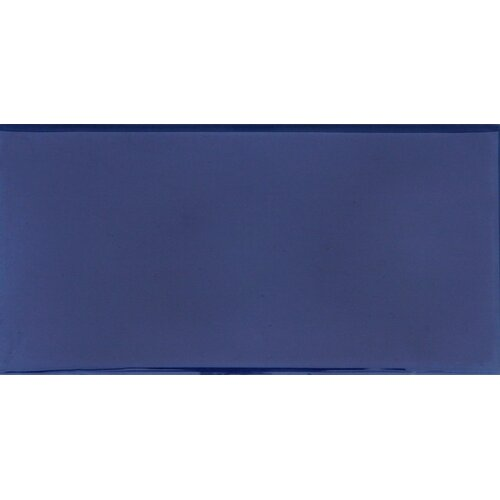 "Solistone Hand-Painted Ceramic 6"" x 3"" Glazed Single Bullnose Tile Trim in Azul"