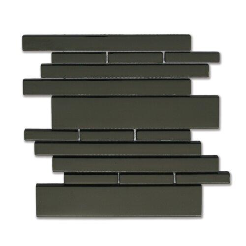 Piano Random Sized Interlocking Mesh Glass Tile in Melody