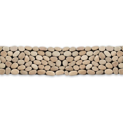 "Solistone Decorative Pebbles 39"" x 4"" Interlocking Border Tile in Brookstone"