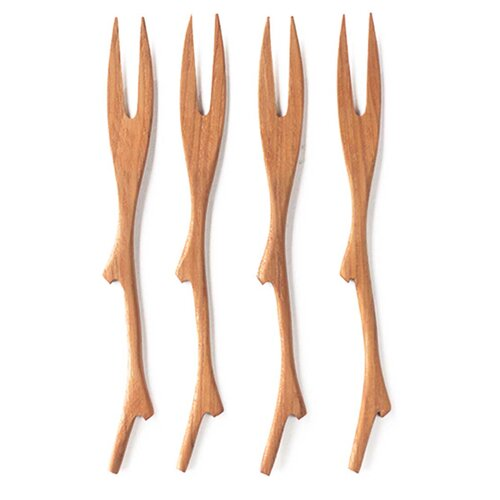 Teak Twig Fork (Set of 4)