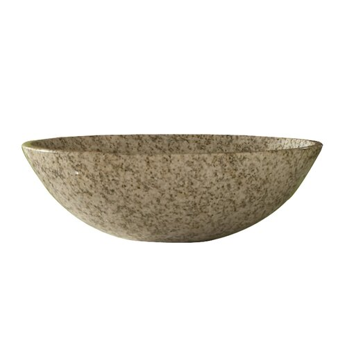Kaco International Gold Hill Granite Round Vessel Bathroom Sink
