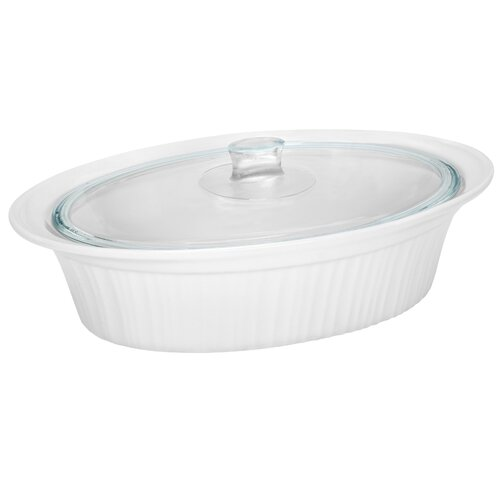 French White 4-qt. Oval Casserole